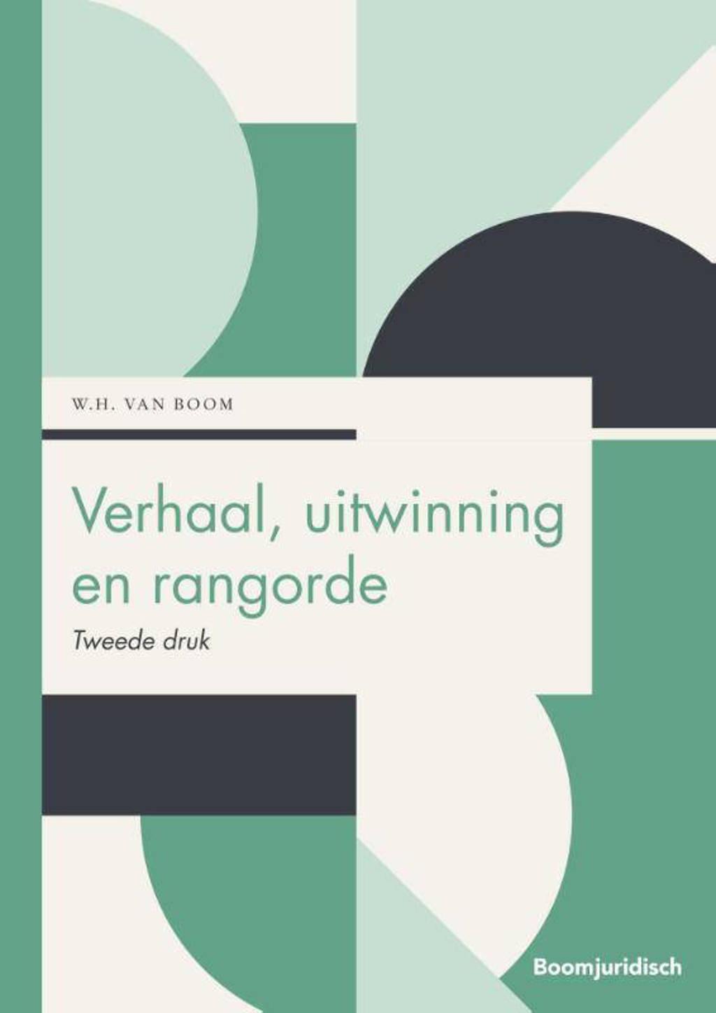 Boom Juridische studieboeken: Verhaal, uitwinning en rangorde - Willem van Boom
