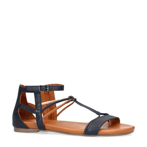 No Stress leren sandalen blauw