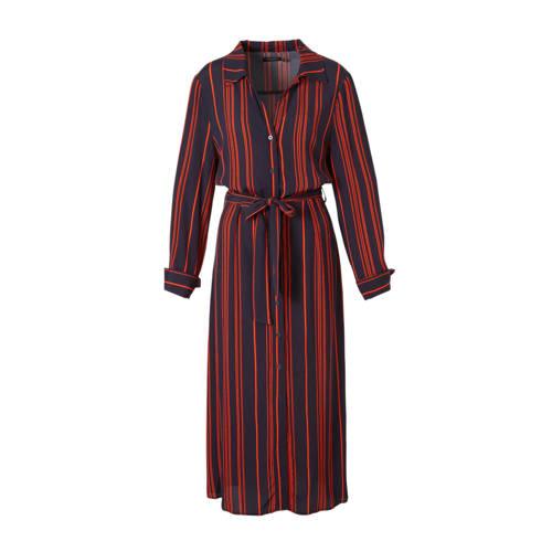 Soaked In Luxury gestreepte blousejurk Halima donk