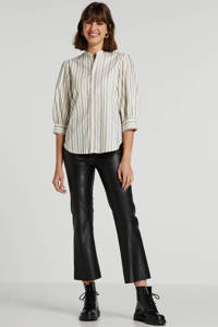 Soaked In Luxury gestreepte blouse Seraphina ecru, Ecru