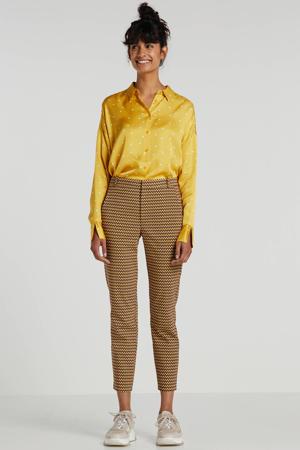 blouse RobertaI met stippen geel/wit