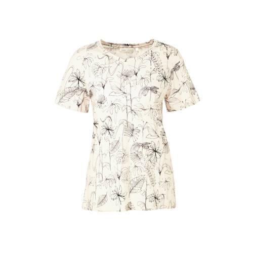 Inwear T-shirt AlmaI met all over print ecru