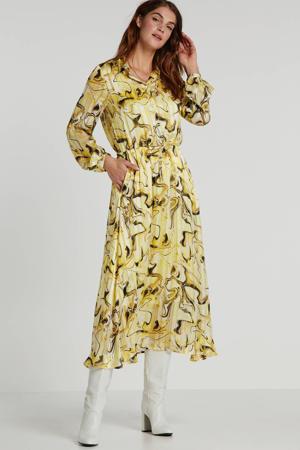 blousejurk ReemaI met all over print geel