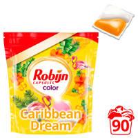 Robijn Caribbean Dream Color wasmiddel - 90 wasbeurten - duo wascapsules