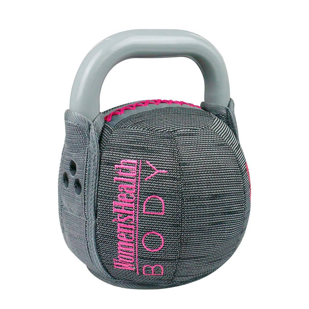 Women's Health  Soft Kettlebell - 10 kg, Grijs/roze