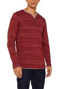 ESPRIT Men Casual gemêleerd T-shirt rood melange, Rood melange