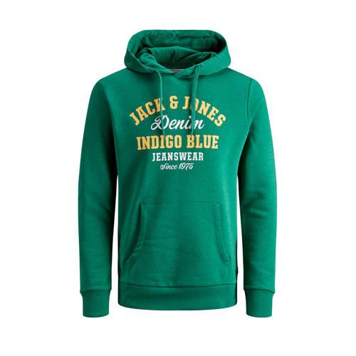 JACK & JONES ESSENTIALS hoodie met logo groen/