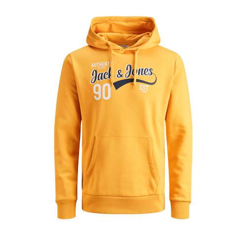 JACK & JONES ESSENTIALS hoodie met logo okerge