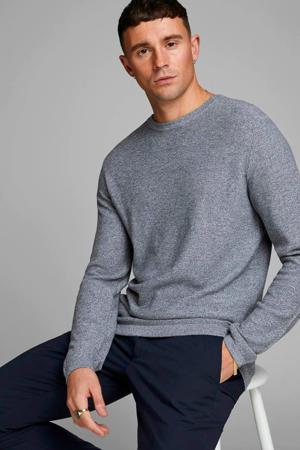 gemêleerde fijngebreide trui grijs