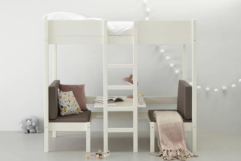 whkmp's own hoogslaper met zitje Charlie (90x200 cm), Wit/grijs