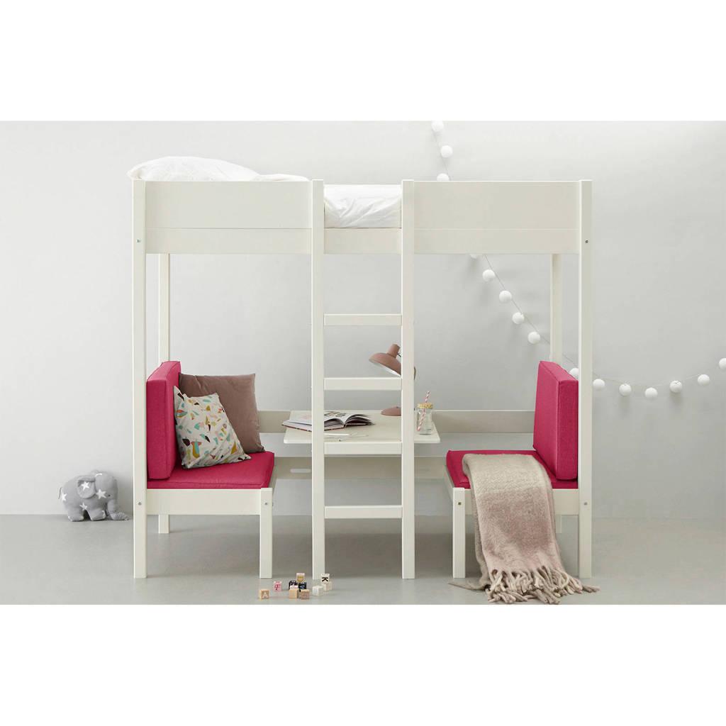 whkmp's own hoogslaper met zitje Charlie (90x200 cm), Wit/roze