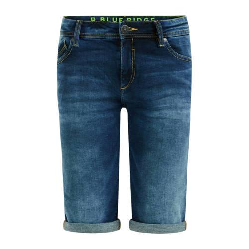 WE Fashion Blue Ridge slim fit denim bermuda blue