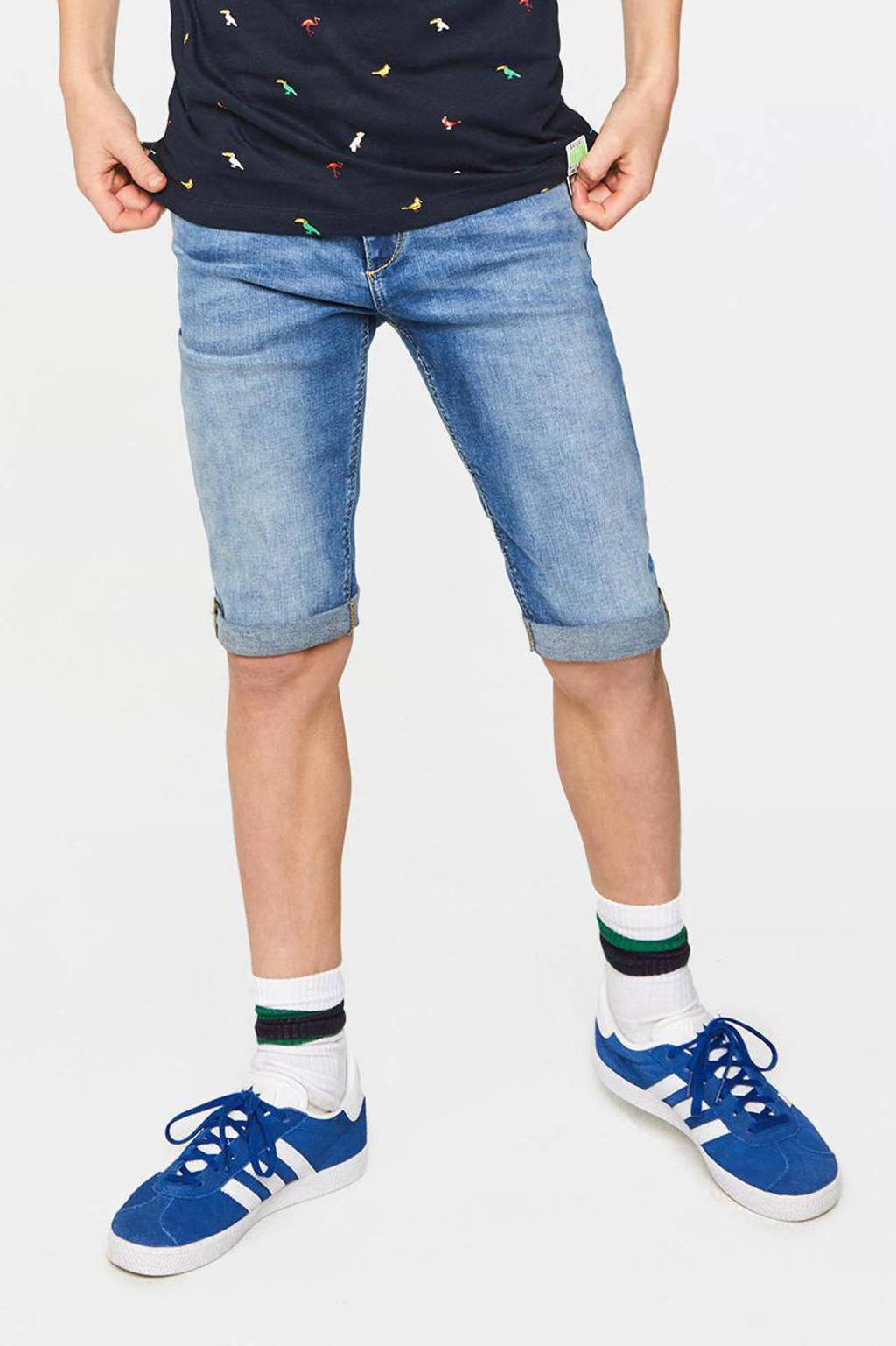 WE Fashion Blue Ridge slim fit jeans bermuda Zeke Bruce retro blue