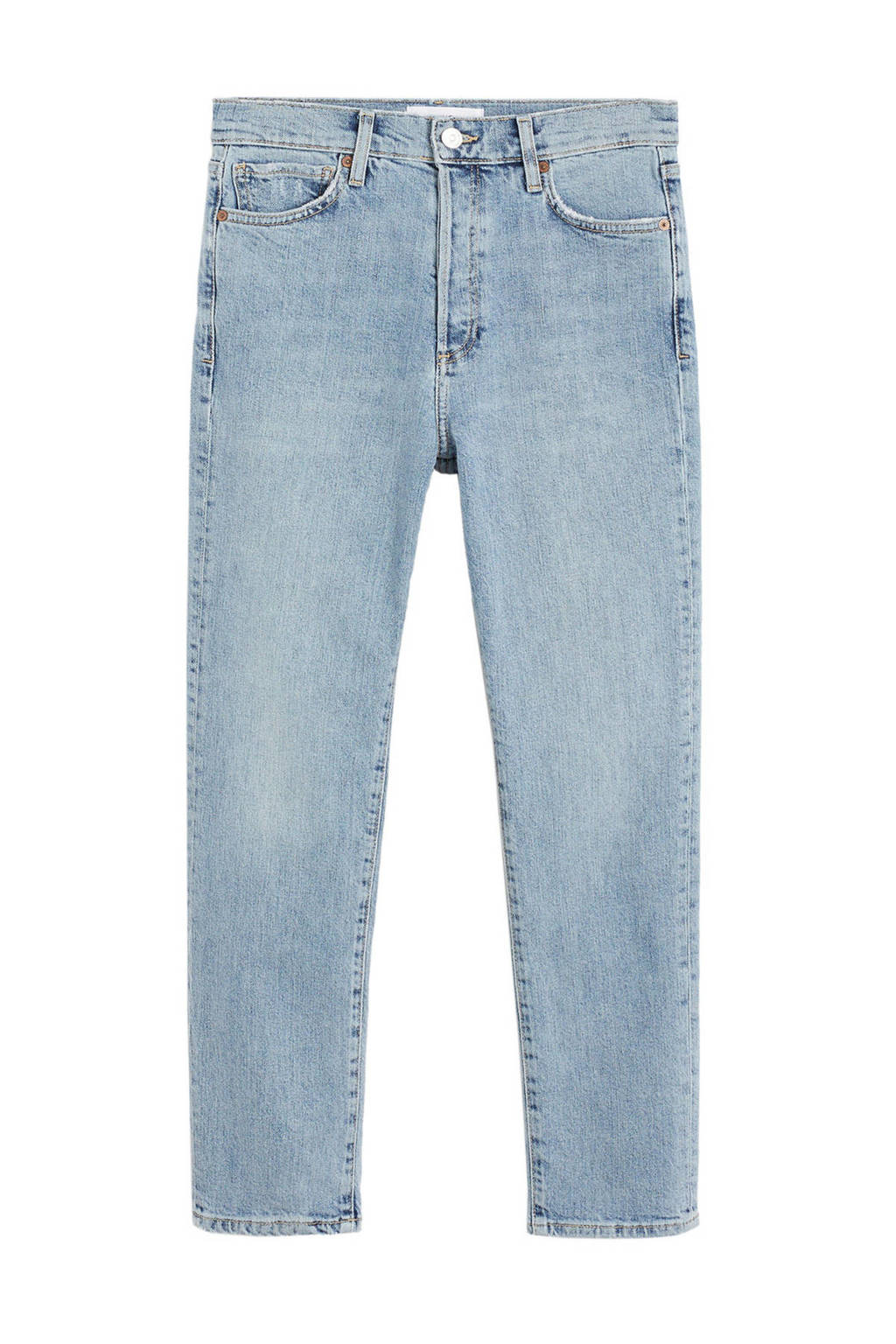Mango high waist slim fit jeans lichtblauw, Lichtblauw