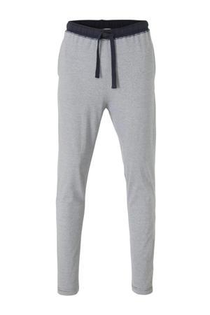 gestreepte pyjamabroek marine/wit