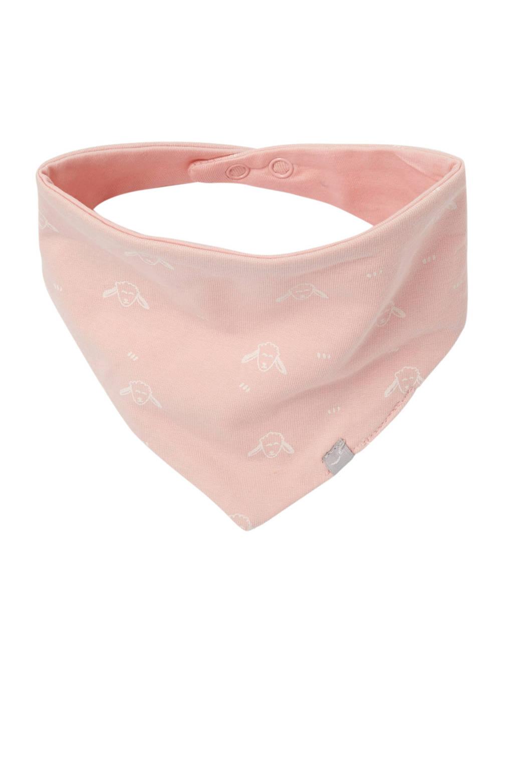 Babyface slab schaapjes roze, Lichtroze/wit