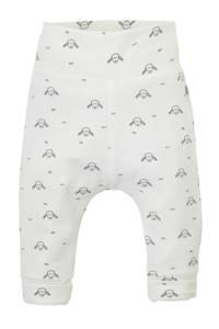 Babyface newborn broek met all over print wit/grijs, Wit/grijs