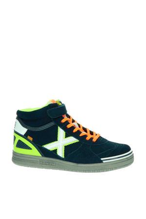 suède sneakers donkerblauw/multi