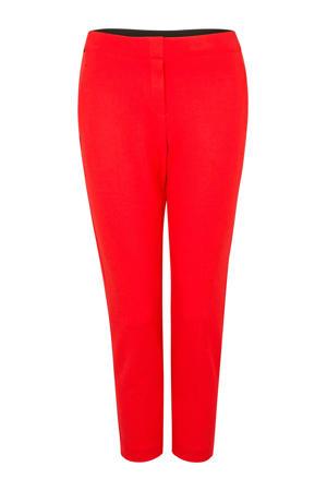 slim fit pantalon rood
