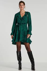 Colourful Rebel jurk met luipaardprint groen, Groen