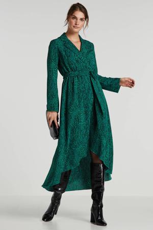 maxi jurk met luipaardprint groen