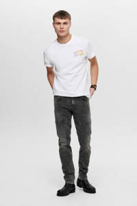 ONLY & SONS slim fit jog denim Loom grey denim, Grijs