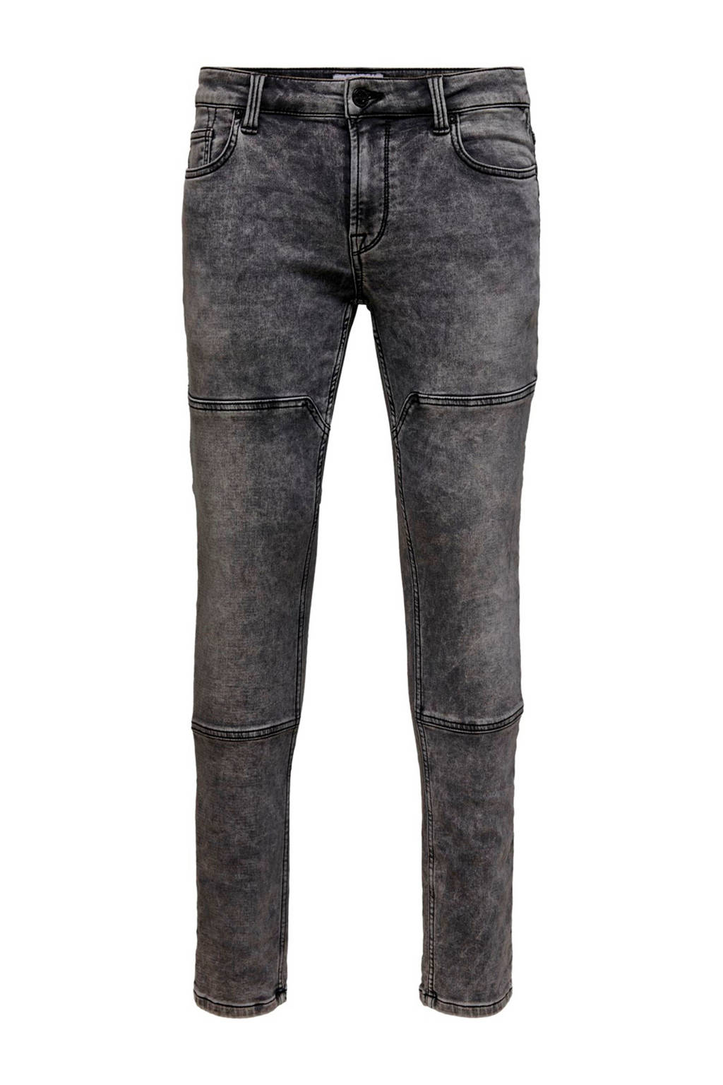 ONLY & SONS slim fit jeans Loom grey denim, Grijs