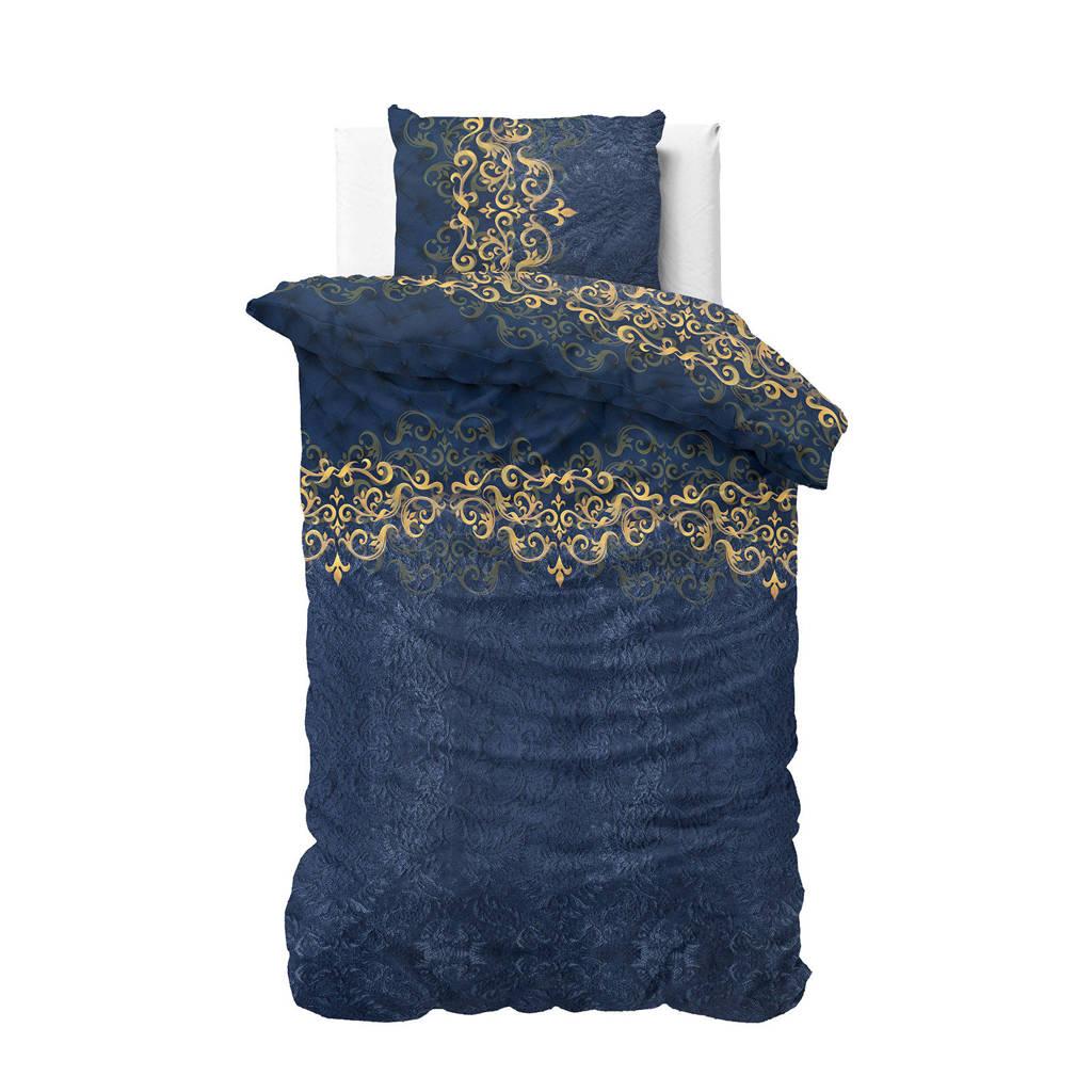 Sleeptime katoenen dekbedovertrek 1 persoons, 1 persoons (140 cm breed), Blauw
