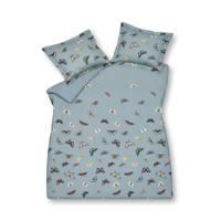 Vandyck katoensatijnen dekbedovertrek 2 persoons, Blauw, 2 persoons (200 cm breed)