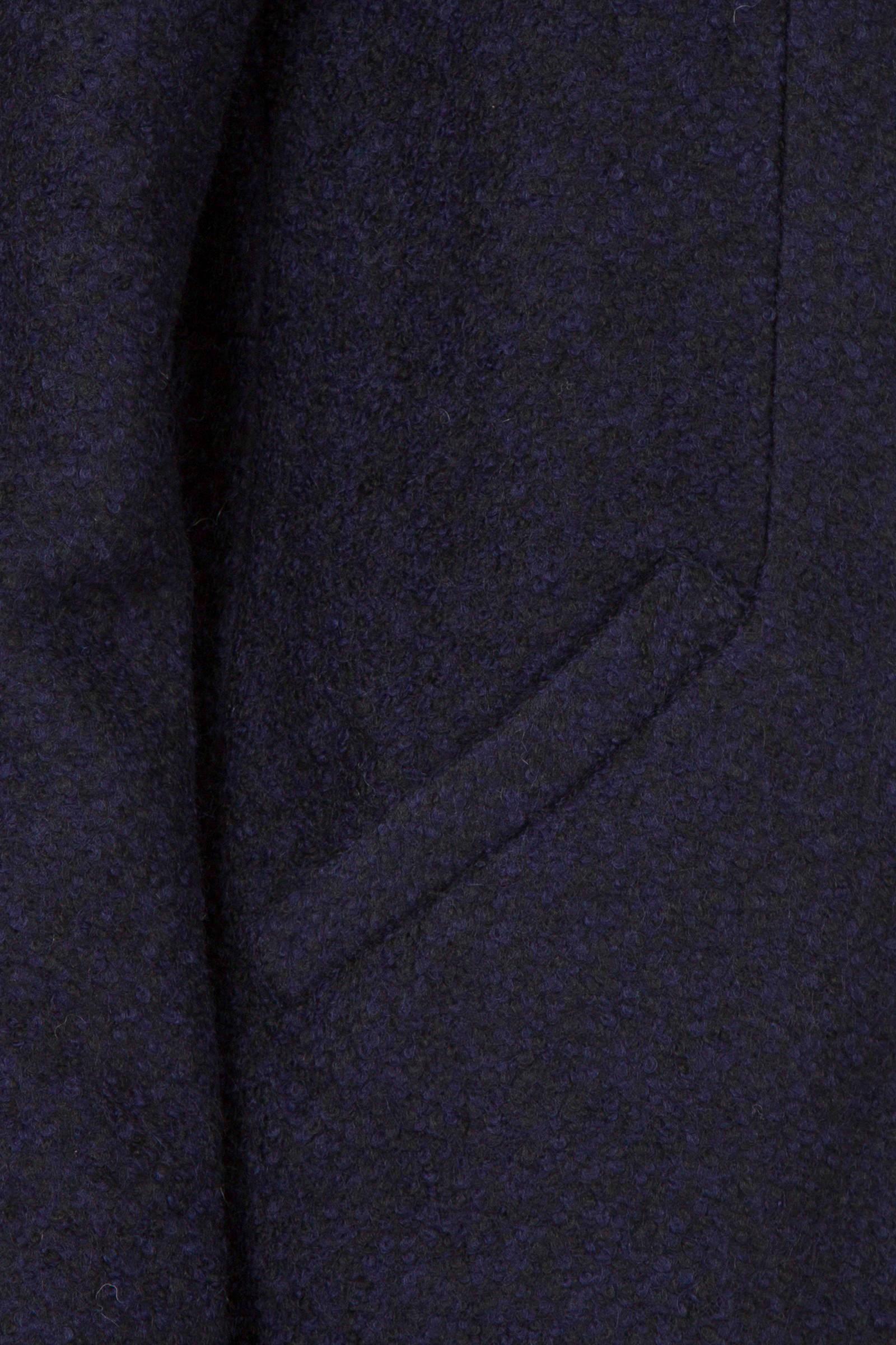 Miss Etam Regulier coat met wol blauw