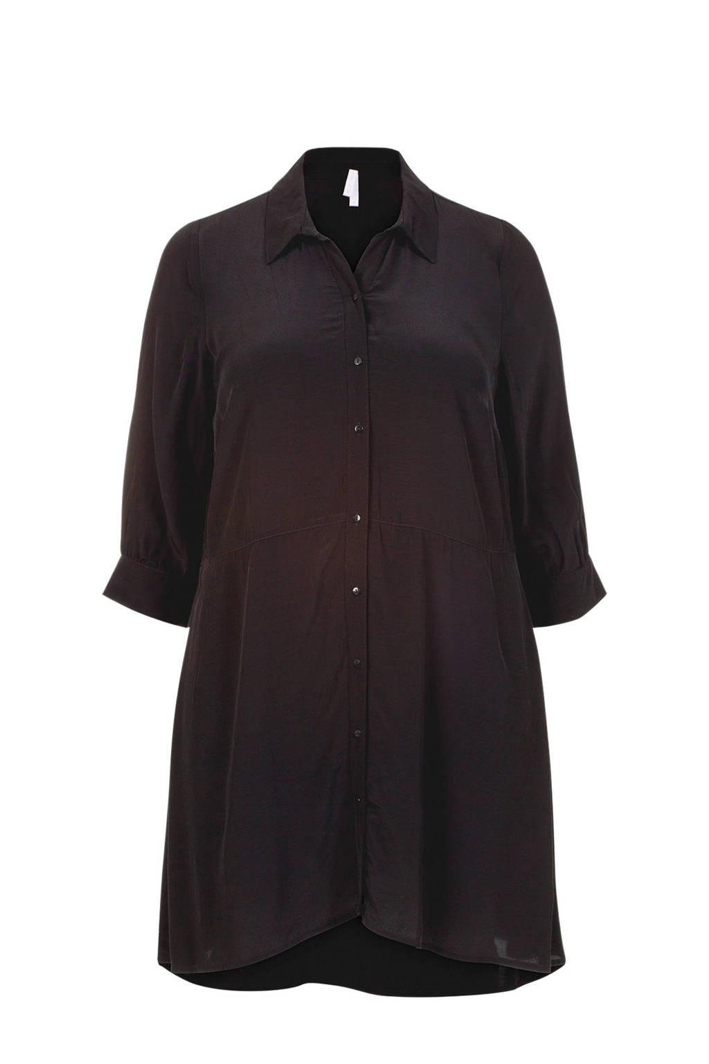 Miss Etam Plus blousejurk zwart, Zwart