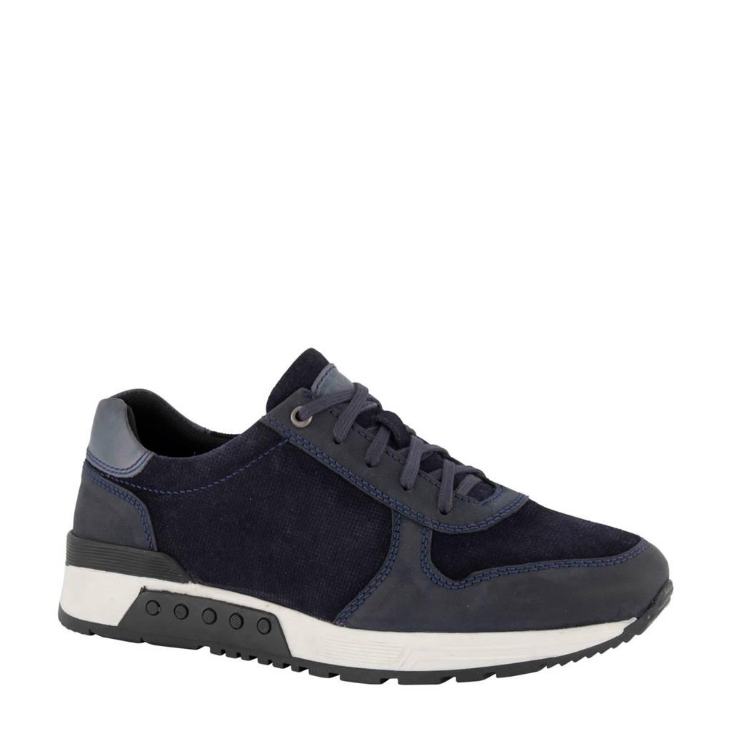 AM SHOE   nubuck sneakers blauw, Blauw
