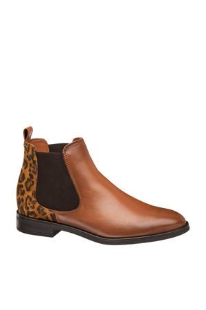 leren chelsea boots panterprint
