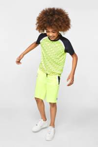 WE Fashion   sport T-shirt limegroen/zwart, Geel/zwart