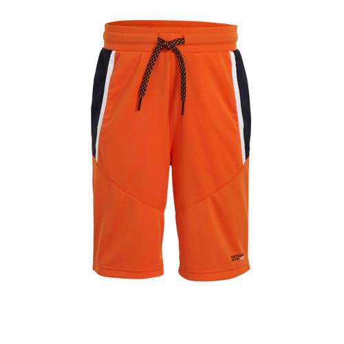 WE Fashion sportshort neon oranje