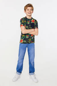WE Fashion regular fit T-shirt van biologisch katoen multicolor, Multicolor