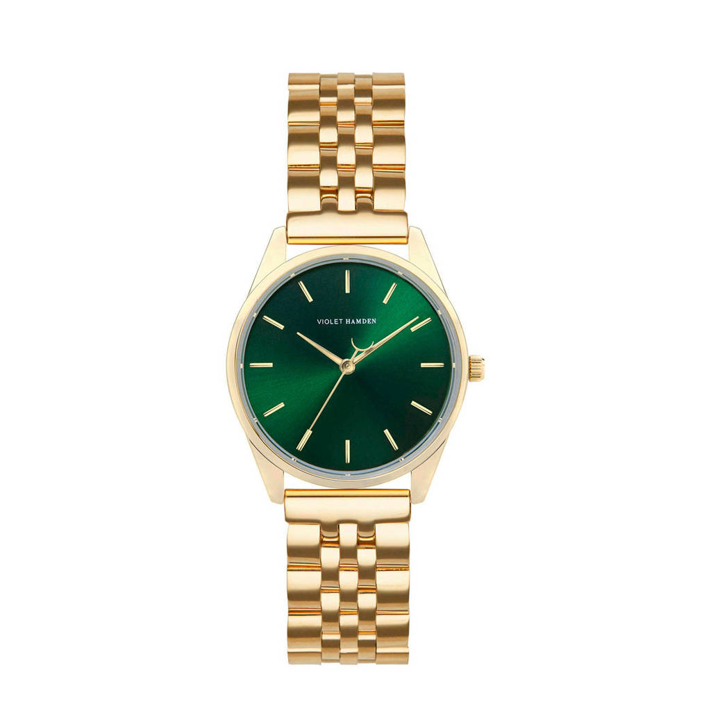 Violet Hamden horloge Serene City VH04007 groen/goudkleurig, Groen/goudkleurig