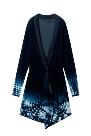 tie-dye vest donkerblauw multi