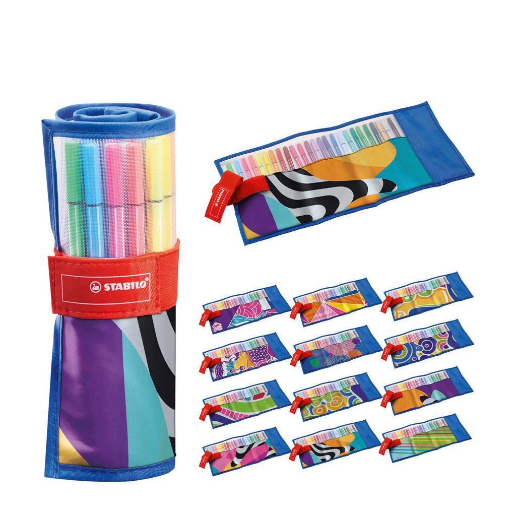 STABILO Premium Viltstift - Pen 68 - Rollerset - Just Like You Edition - Set Met 25 Kleuren