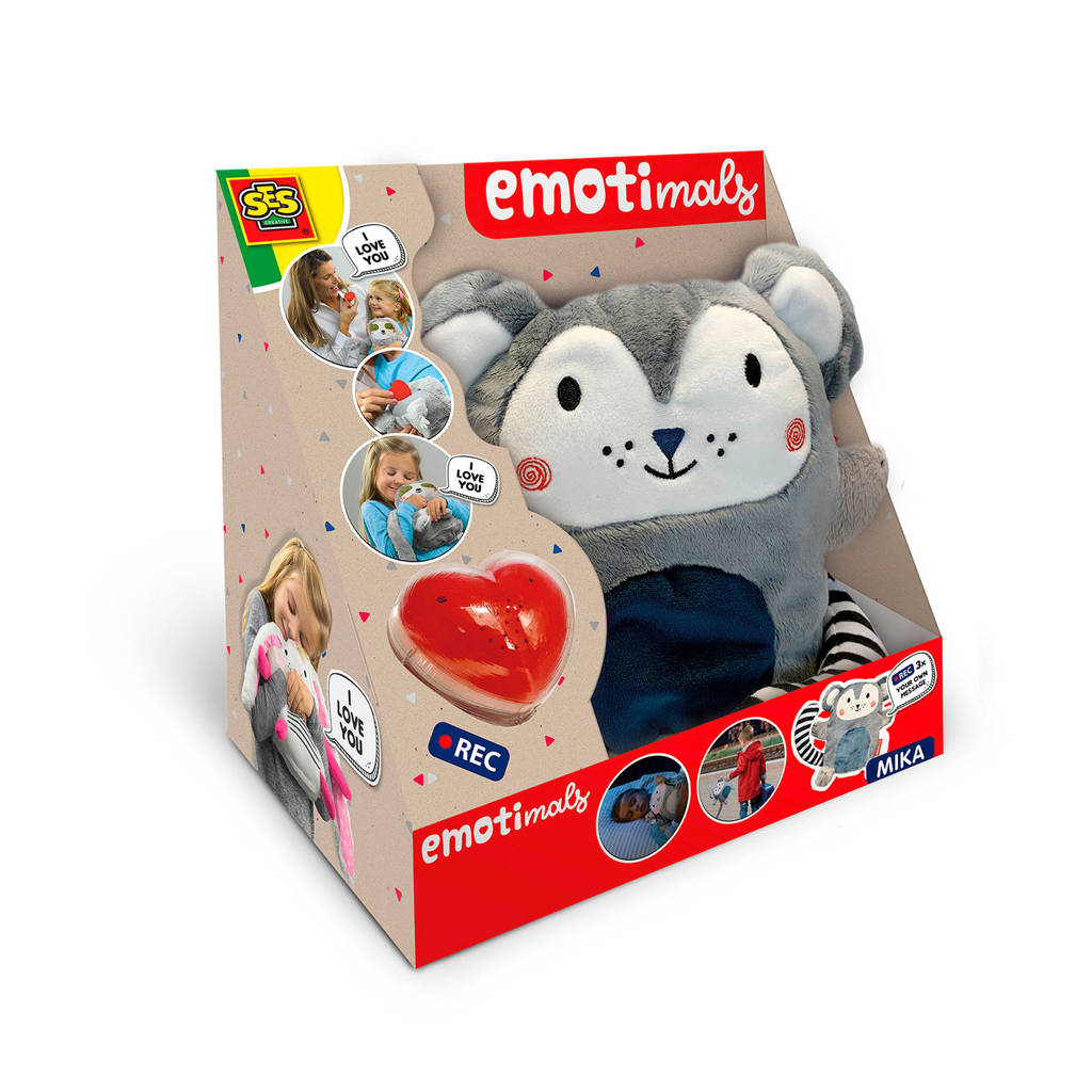SES Emotimals - Mika interactieve knuffel, Grijs