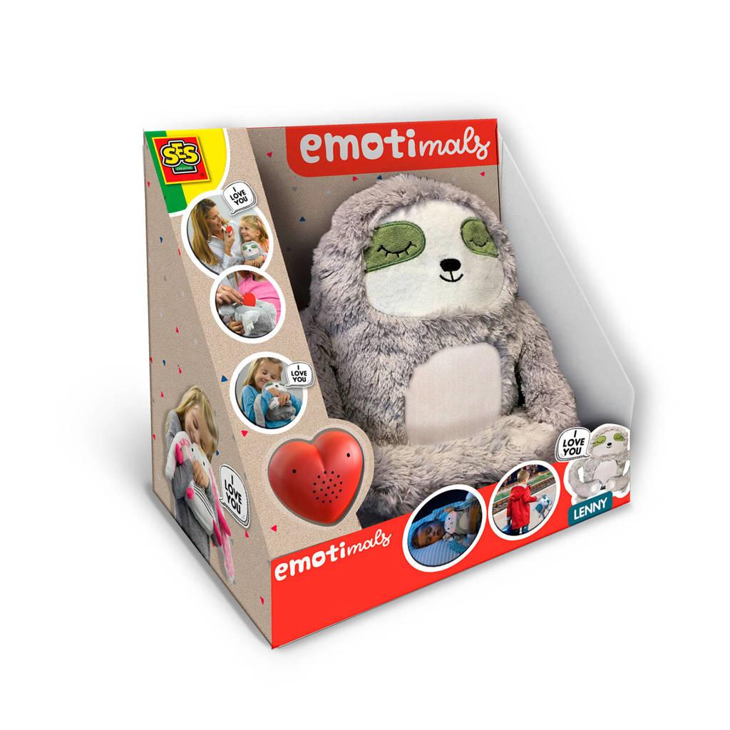 SES Emotimals - Lenny interactieve knuffel, Grijs