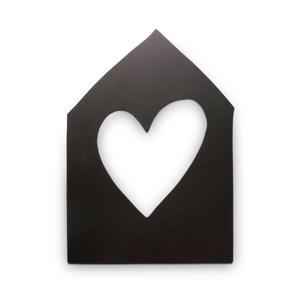 wanddecoratie Huis Wood Black 40cm  (40 cm)