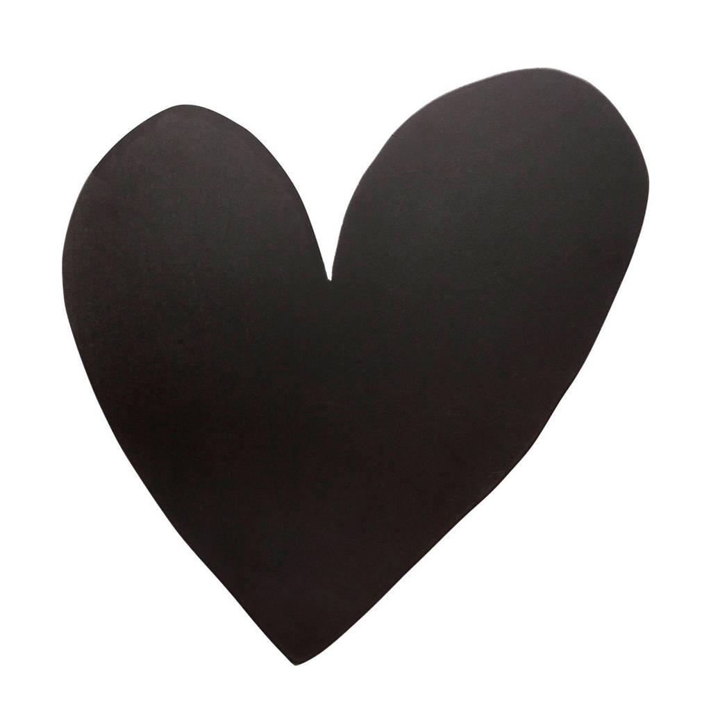 vtwonen wanddecoratie Hart Wood Black 49cm