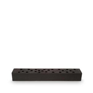 kandelaar Block Rectangular Reversable Wood Black 60x10x8cm