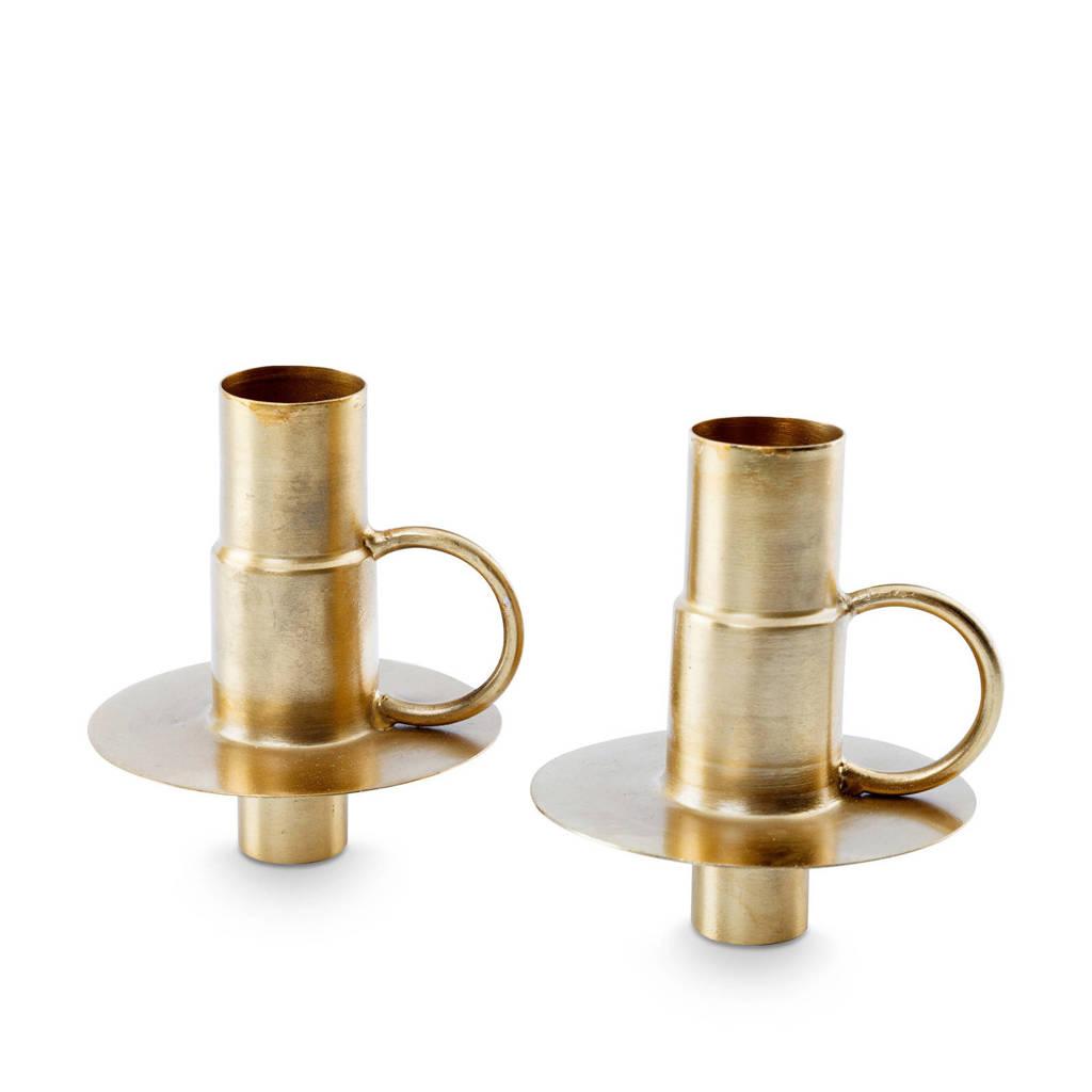 vtwonen kandelaar (set van 2) Metal Gold (7x7x8.5cm), Goud