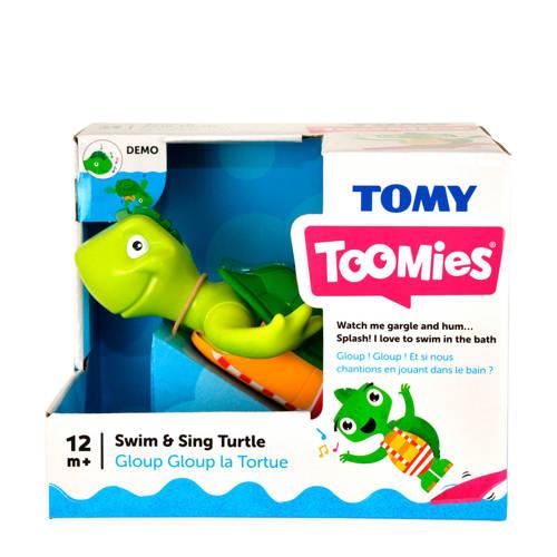 Vrolijk zingende schildpad