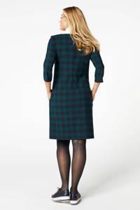 PROMISS geruite jersey jurk groen multi