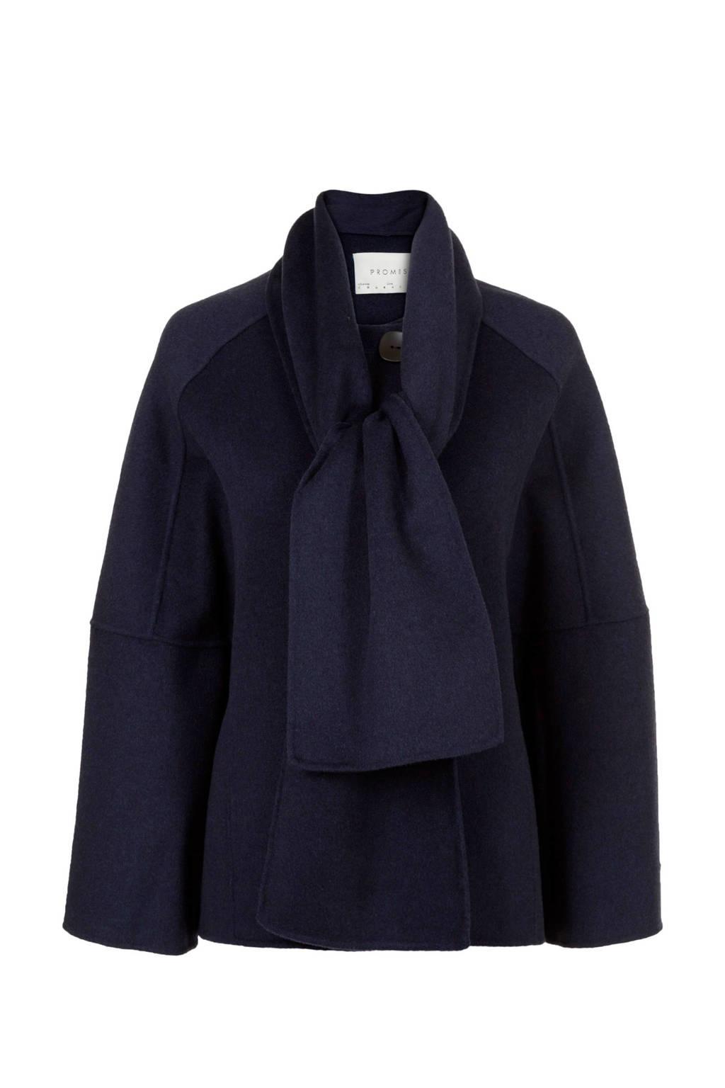 PROMISS coat donkerblauw, Donkerblauw