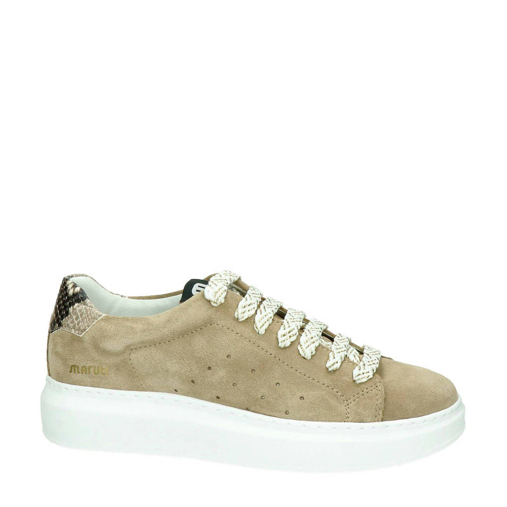 Maruti Claire  suède sneakers taupe, Taupe