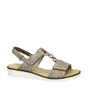sandalen taupe/metallic